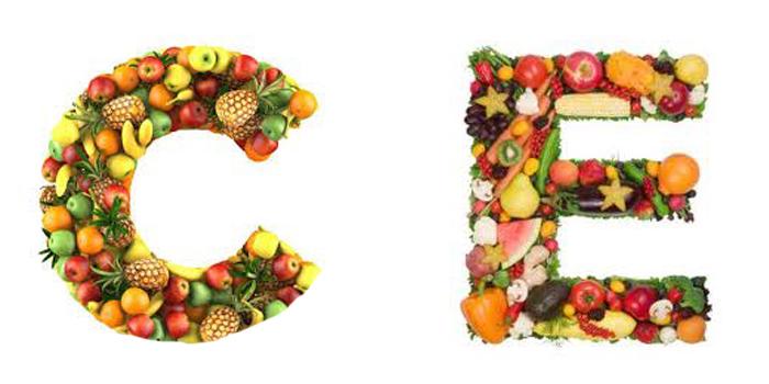 ویتامین های C و E