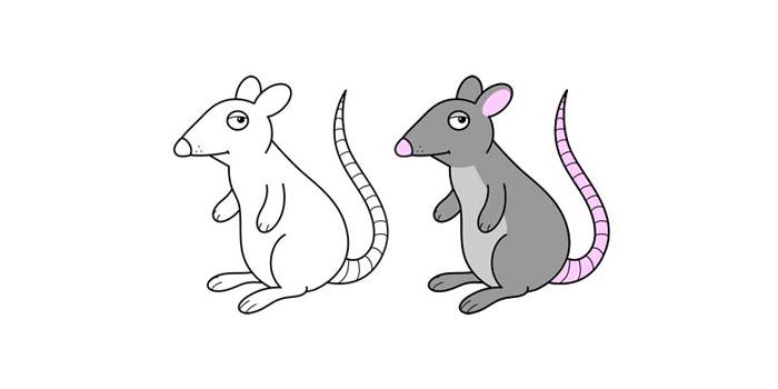 نقاشی برای همه - موش کارتونی