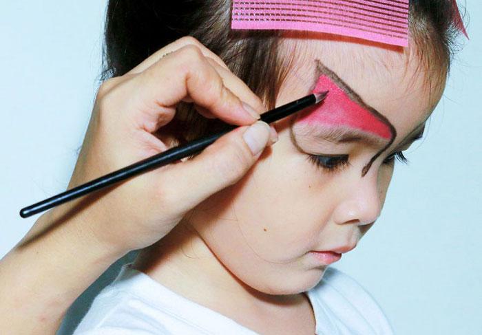 آموزش گام به گام نقاشی - نقاشی گربه روی صورت کودکان