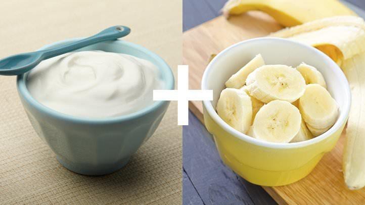 ماست و موز (پروتئین و پتاسیوم)