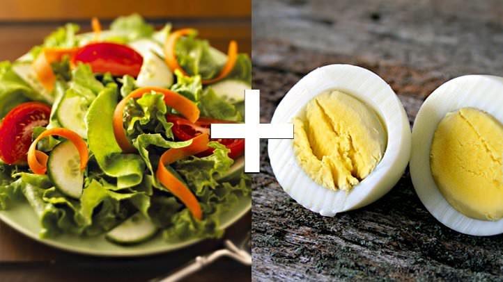 گیاهان خام و تخم مرغ (کاروتنوئیدها و زردهٔ تخم مرغ)